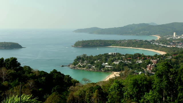 kata karon beach viewpoint phuket island thailand