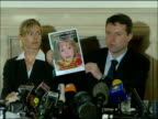 Kate and Gerry McCann press conference Gerry McCann SOT Just finish by syaing that from this website wwwfindmadeleinecom website there is also a link...