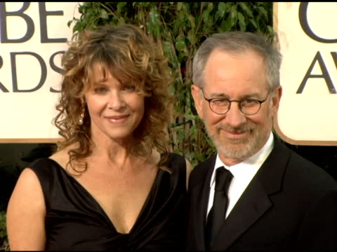 Kate Capshaw and Steven Spielberg at the 2006 Golden Globe Awards Arrivals at the Beverly Hilton in Beverly Hills California on January 16 2006