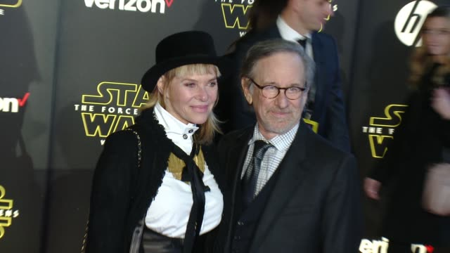 Kate Capshaw and Steven Spielberg at the 'Star Wars The Force Awakens' World Premiere at TCL Chinese Theatre on December 14 2015 in Hollywood...