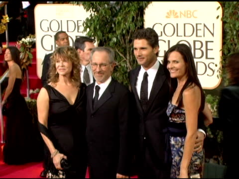 Kate Capshaw Steven Spielberg Eric Bana and Rebecca Gleeson at the 2006 Golden Globe Awards Arrivals at the Beverly Hilton in Beverly Hills...