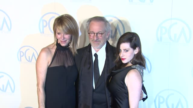 Kate Capshaw Steven Spielberg Sasha Spielberg at the 23rd Annual Producers Guild Awards on 1/21/12 in Beverly Hills CA