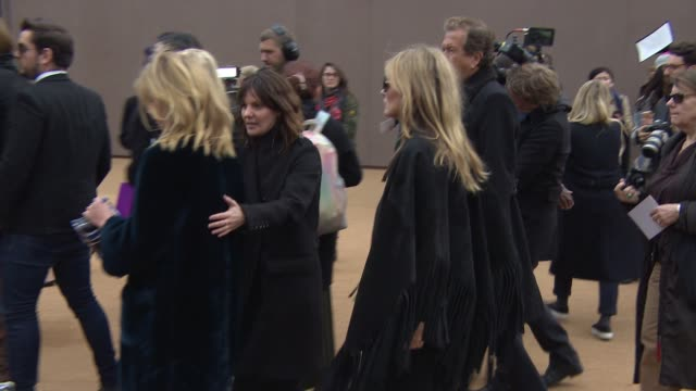 Kate Moss at Burberry Prorsum A/W 2015 at Kensington Gardens on February 23 2015 in London England