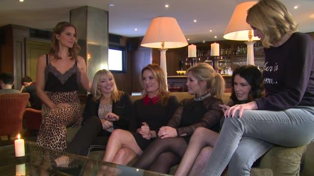 INTERVIEW Kate Thornton Tamzin Outhwaite Lisa Faulkner Amanda Byram Julie Graham on the launch of TBSeen on January 04 2016 in London England