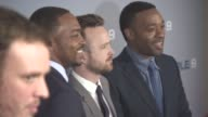 Kate Winslet Anthony Mackie Chiwetel Ejiofor Aaron Paul and John Hillcoat at 'Triple 9' UK gala screening on February 09 2016 in London England