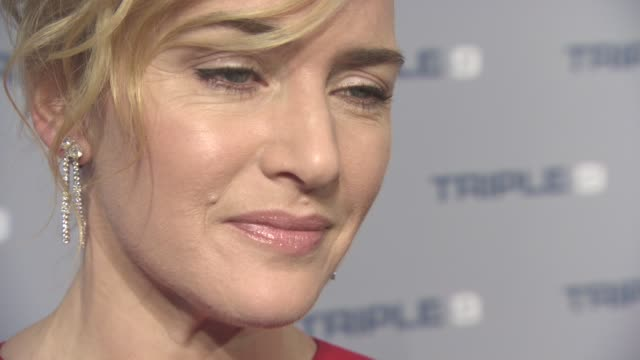 INTERVIEW Kate Winslet on her hopes for the Oscars and the character she plays in the film at 'Triple 9' UK gala screening on February 09 2016 in...