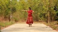 Kathak dansare utför