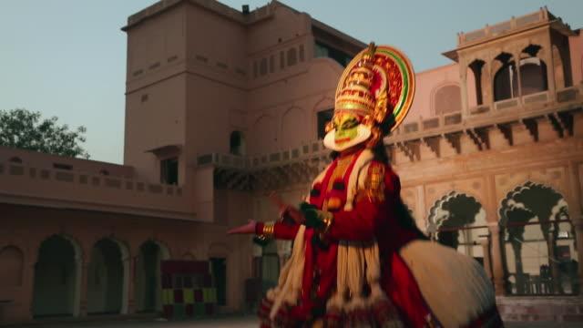Kathakali dancer performing In the palace, Ballabgarh, Haryana, India