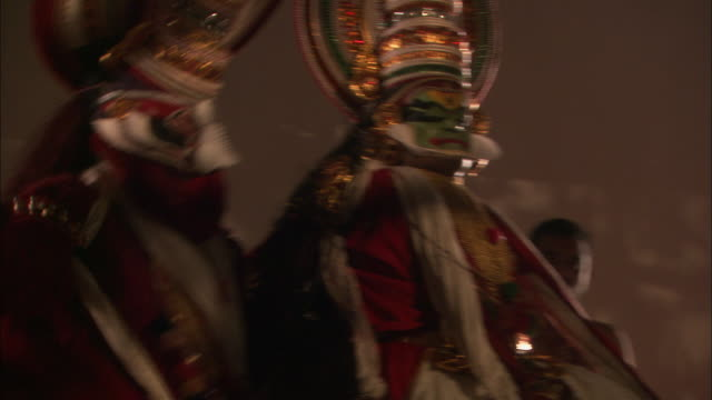 Kathakali dancers perform Available in HD.
