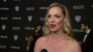 INTERVIEW Katherine Heigl at 16th Annual InStyle And Warner Bros Golden Globe AfterParty on January 11 2015 in Beverly Hills California