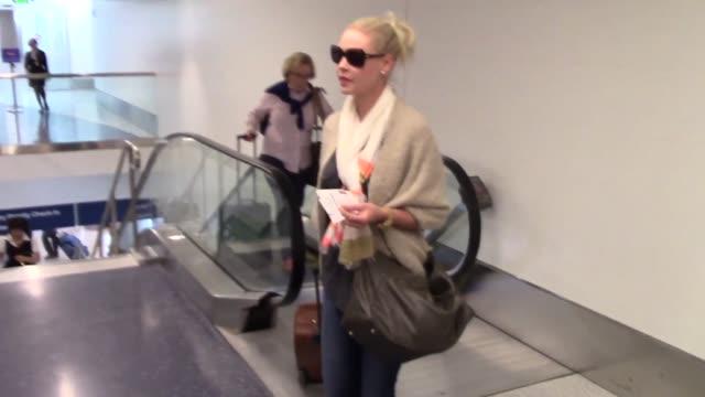 Katherine Heigl at Los Angeles International Airport at Celebrity Sightings in Los Angeles on September 04 2015 in Los Angeles California