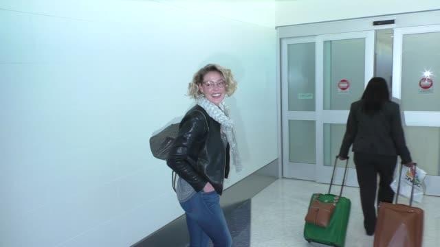 Katherine Heigl Josh Kelley at LAX Airport in Los Angeles at Celebrity Sightings in Los Angeles on February 16 2016 in Los Angeles California