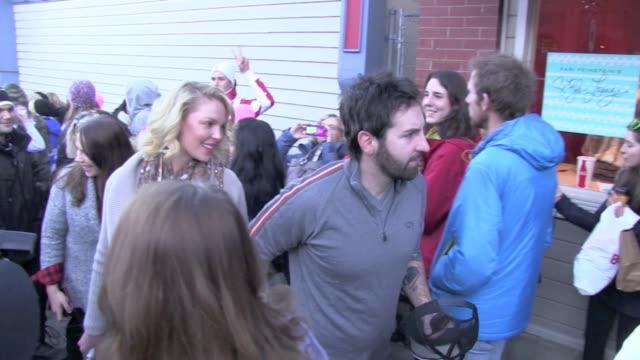 Katherine Heigl Josh Kelley Gifting Lounge Main Street Celebrity Sightings in Park City on 1/19/13 in Park City Utah