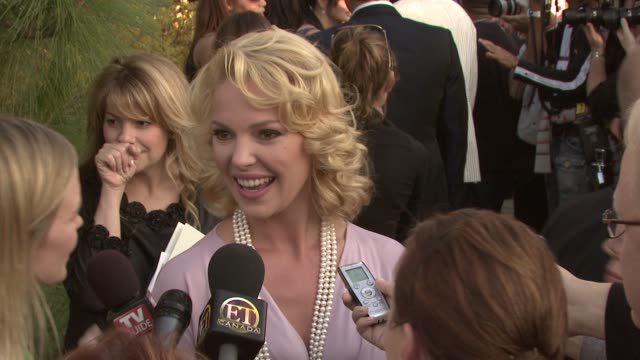 Katherine Heigl on beauty products at the 7th Annual Chrysalis Butterfly Ball at Los Angeles California