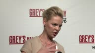 Katherine Heigl on the quirky storylines using real pig intestines to operate on and stitch up and whats on the DVD at the Grey's Anatomy Season One...