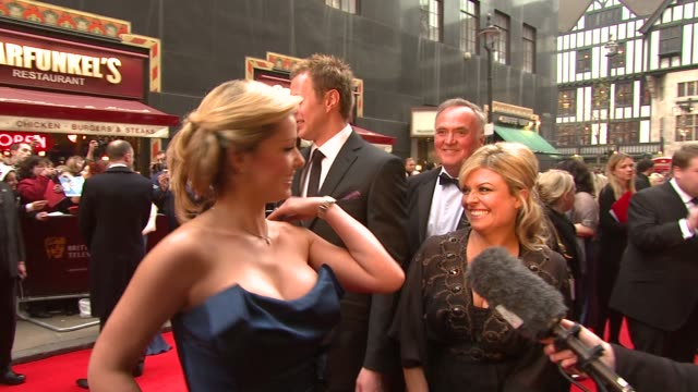 Katherine Jenkins Tom Lister and Emily Symons at the BAFTA Awards on April 20 2008