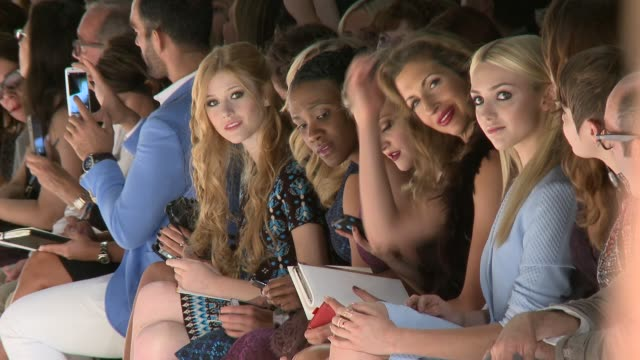 Katherine McNamara Nastia Liukin Vicky Jeudy Madeline Brewer and Alysia Reiner during Nanette Lepore Runway Spring 2015 MercedesBenz Fashion Week at...