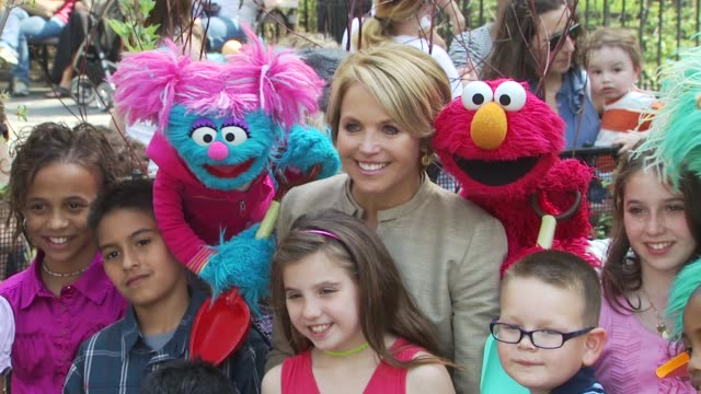 Katie Couric and Sesame Street Muppets When Families Grieve New York NY United States
