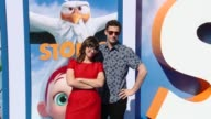 Katie Crown and Andy Samberg at the 'Storks' Los Angeles Premiere at Regency Village Theatre on September 17 2016 in Westwood California