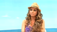 Katie Price launches swimwear range Katie Price interview SOT get a pina colada re music i've put massive karaoke studio / I'm a frustrated popstar...