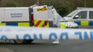 16 year old girl admits to killing January 2017 Police incident tent and corden at scene where body discovered Forensic officer at back of van Police...