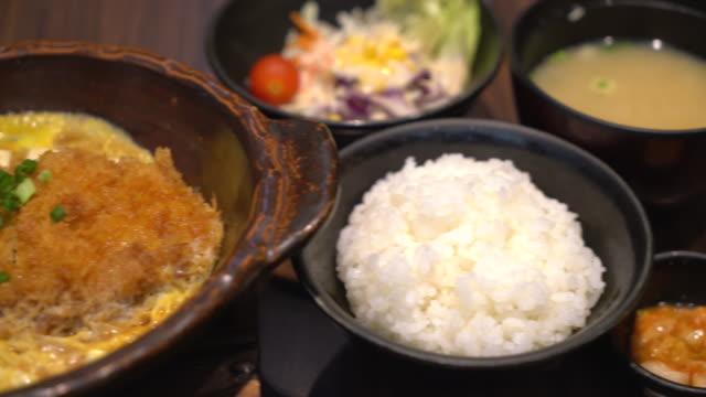 Katsudon - Japanese breaded deep fried pork
