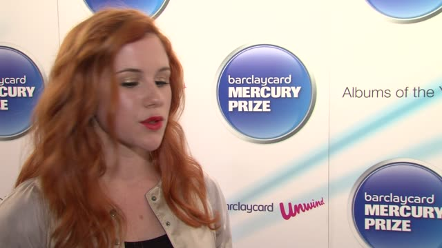 Katy B on seeing Adele Jessie J on US covers UK having an authentic sound at the Barclaycard Mercury Prize Nominations at London England