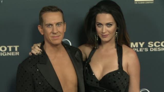 Katy Perry and Jeremy Scott at the 'Jeremy Scott The People's Designer' Los Angeles Premiere Jeremy Scott And Katy Perry Handprint Ceremony at TCL...