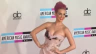 Katy Perry at the 2011 American Music Awards Arrivals at Los Angeles CA