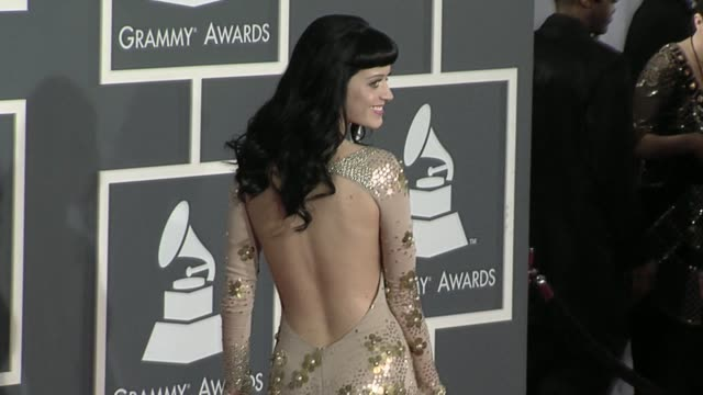 Katy Perry at the 52nd Annual GRAMMY Awards Arrivals at Los Angeles CA