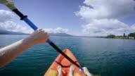 POV Kayak on Lake