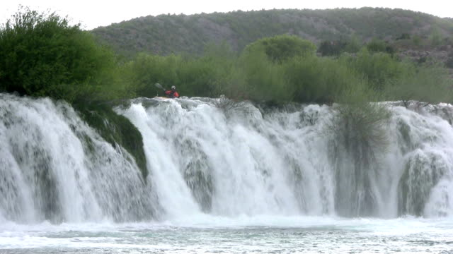 HD: Kayaking down a waterfall