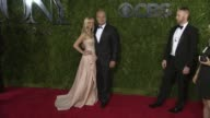 Kayte Walsh and Kelsey Grammer at 2015 Tony Awards Arrivals at Radio City Music Hall on June 07 2015 in New York City