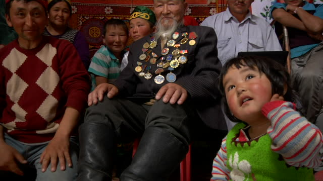 Kazakh family gathered