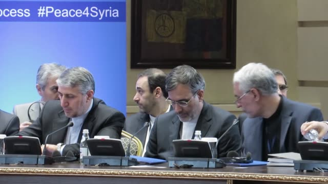 Kazakhstan's Foreign Minister Kairat Abdrakhmanov speaks during the seventh round of Astana talks on Syria in Astana Kazakhstan on October 31 2017 A...