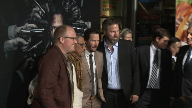 Keanu Reeves Laurence Fishburne and Derek Solstad at the 'John Wick Chapter 2' US Premiere at ArcLight Hollywood on January 30 2017 in Hollywood...