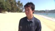 INTERVIEW Kei Nishikori at Tennis Pro Kei Nishikori Enjoying Some Down Time In Acapulco Mexico on