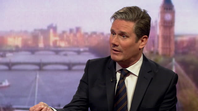Keir Starmer saying whilst he respects the result of the referendum they are not going to give a 'blank cheque' to the government to go ahead with...