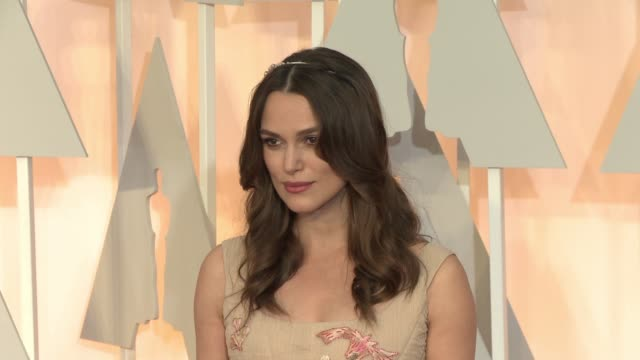 Keira Knightley at 87th Annual Academy Awards Arrivals at Dolby Theatre on February 22 2015 in Hollywood California