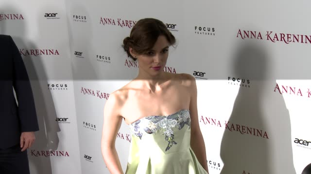 Keira Knightley at Anna Karenina Premiere Presented By Focus Features on 11/14/12 in Los Angeles CA