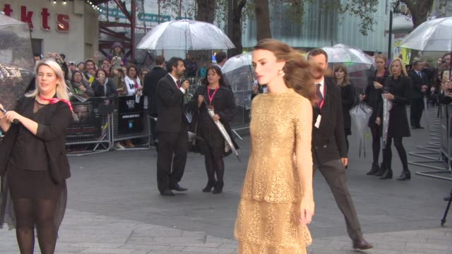 Keira Knightley at 'The Imitation Game' Gala Opening at Odeon Leicester Square on October 08 2014 in London England