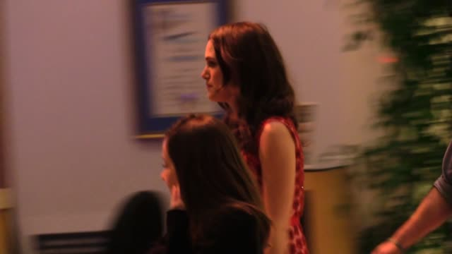 Keira Knightley exiting The Imitation Game QA at the Paley Center in Los Angeles in Celebrity Sightings in Los Angeles
