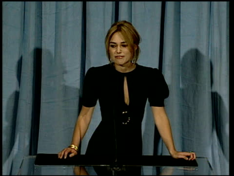 Keira Knightley on her mother telling her about the nomination at the 2006 Annual Academy Awards Nominees Luncheon at the Beverly Hilton in Beverly...