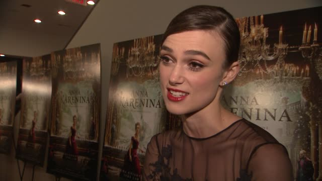 Keira Knightley on reading the book on the costumes of the film on the new retelling of the story at the 'Anna Karenina' Special Screening in New...
