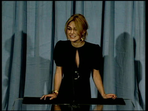 Keira Knightley on the excitement and hearing about the nomination at the 2006 Annual Academy Awards Nominees Luncheon at the Beverly Hilton in...
