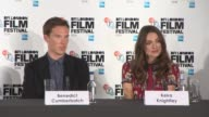 INTERVIEW Keira Knightley on what she thought of Alan Turing at The Imitation Game Press Conference at Corinthia Hotel London on October 08 2014 in...