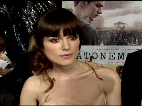Keira Knightly on the film her character how the director stoked the chemistry between her and James and the research she conducted for the part at...