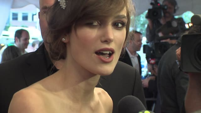 Keira Knightly on the love scenes on September 07 2008 in Toronto Ontario