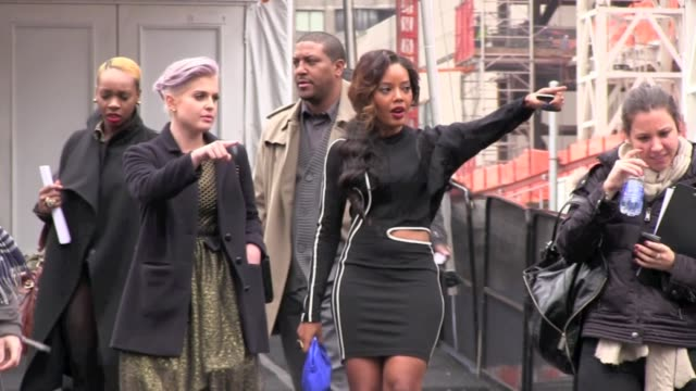 Kelly Osbourne and Angela Simmons at MercedesBenz Fashion Week in New York on 2/14/2012