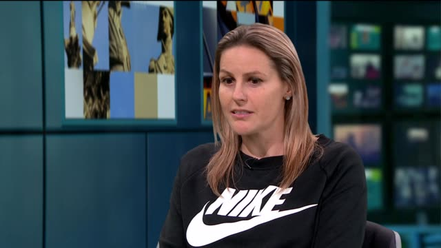 Kelly Smith announces her retirement ENGLAND London GIR INT Kelly Smith LIVE studio interview SOT